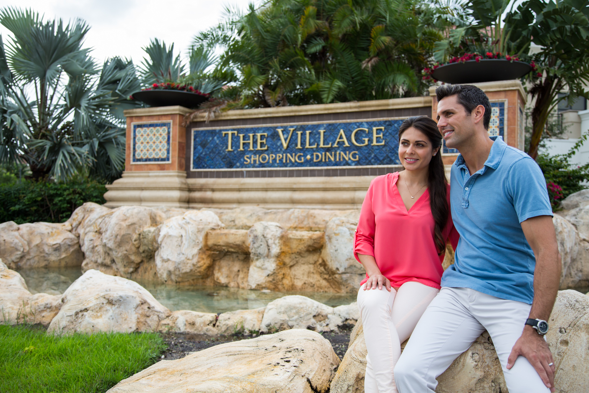 TheVillageGulfstream The Village Shopping and Dining Sign