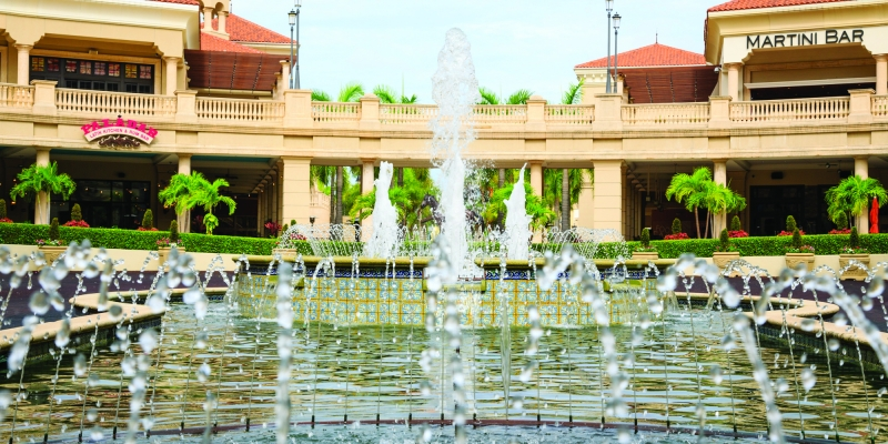 Fountain at Gulf Stream Park